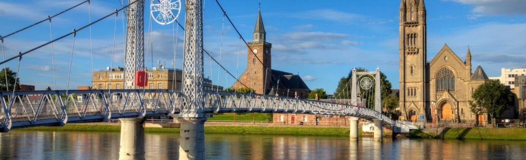 things to do inverness footbridge river ness the professional traveller #theprofessionaltraveller