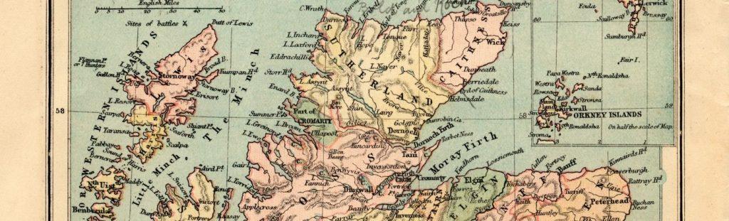 the professional traveller scottish highlands map #theprofessionaltraveller