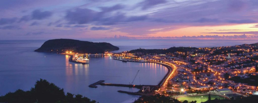 azores holiday horta at night  coach holiday expert #coachholidayexpert