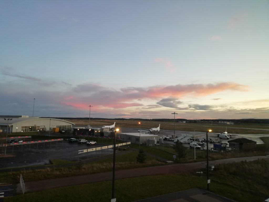 inverness airport hotel sunrise  the professional traveller #theprofessionaltraveller