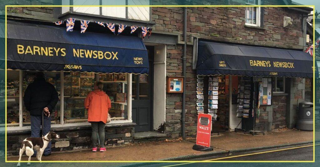 barneys newsbox grasmere lake district the professional traveller