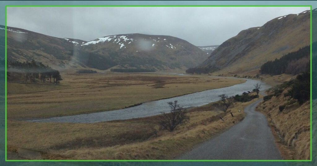 the professional traveller visiting the highlands single track roads