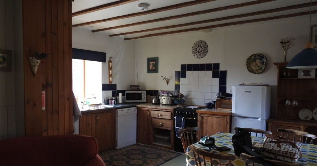 kitchen area wee gem holiday cottage forres self catering the professional traveller