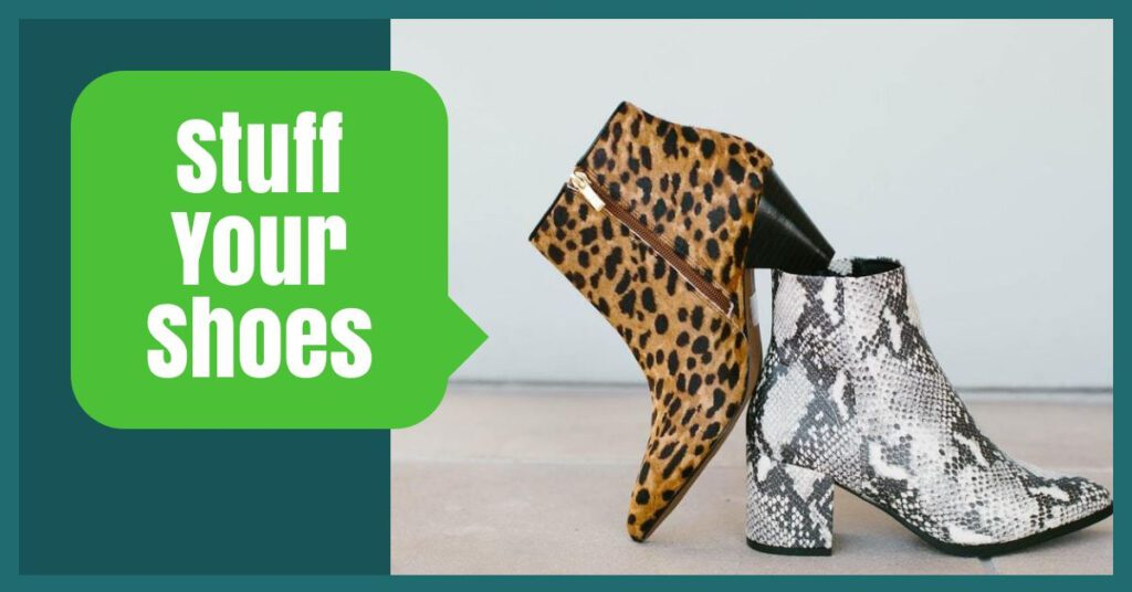 stuff your shoes the professional traveller packing hacks
