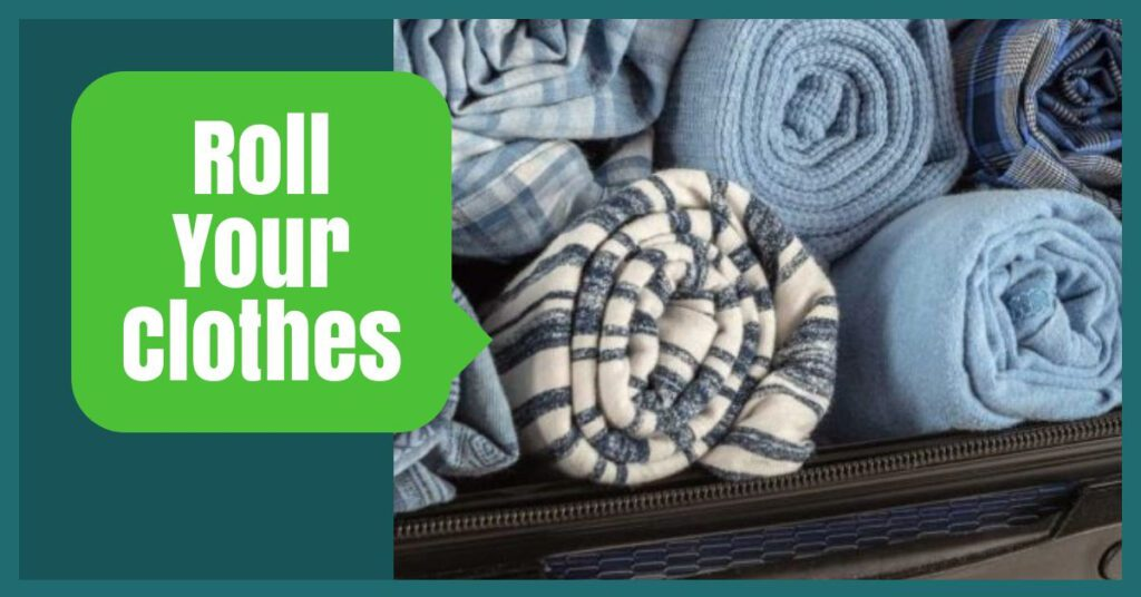 rolling clothes the professional traveller packing hacks