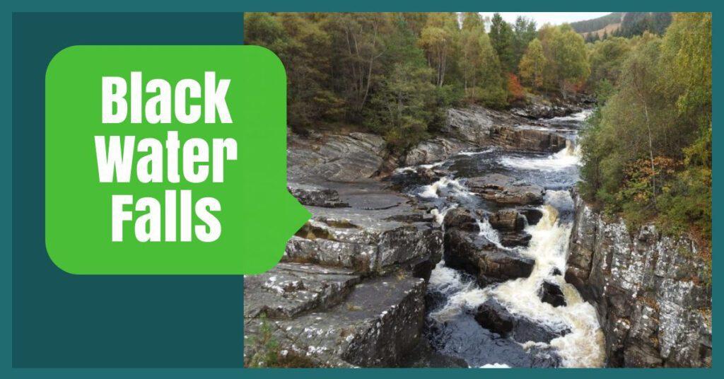 black water falls the professional traveller scottish highlands road trip